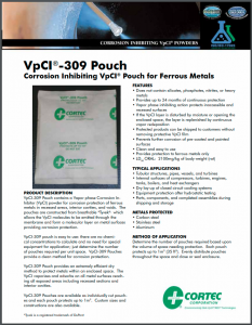 VpCI®-309 Pouch - Corrosion Inhibiting VpCI® Pouch for Ferrous Metals