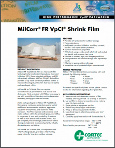 MilCorr® FR VpCI® Shrink Film