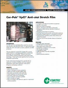 Cor-Pak® VpCI® Anti-Stat Stretch Film