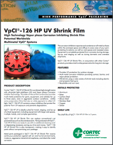 VpCI®-126 HP UV Shrink Film
