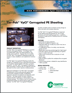 Cor-Pak® VpCI® Corrugated PE Sheeting