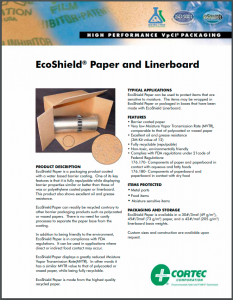 EcoShield® Paper and Linerboard, Patented