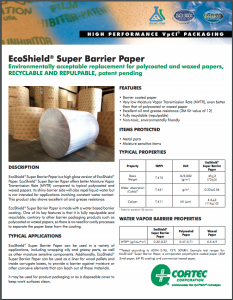 EcoShield® Super Barrier Paper